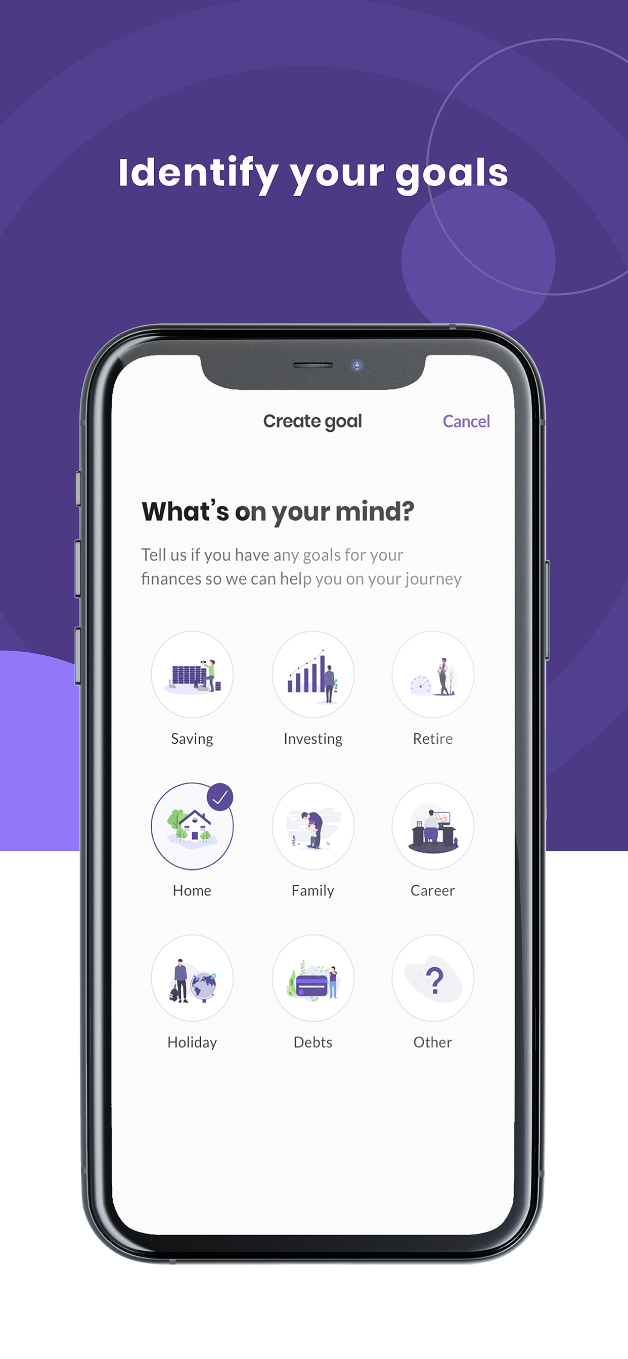 Bippit app - plan for financial security